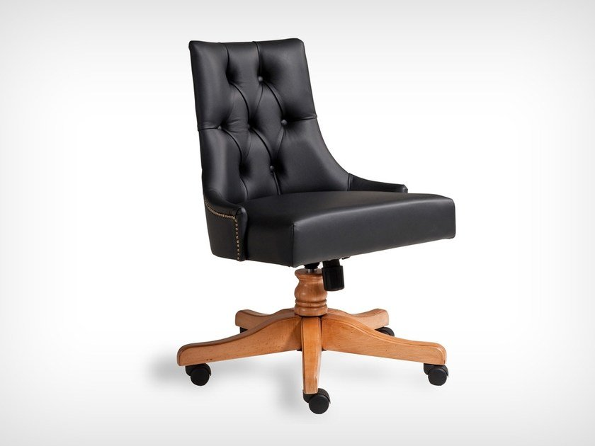 Swivel leather chair K 10520 | Swivel chair by L'Origine