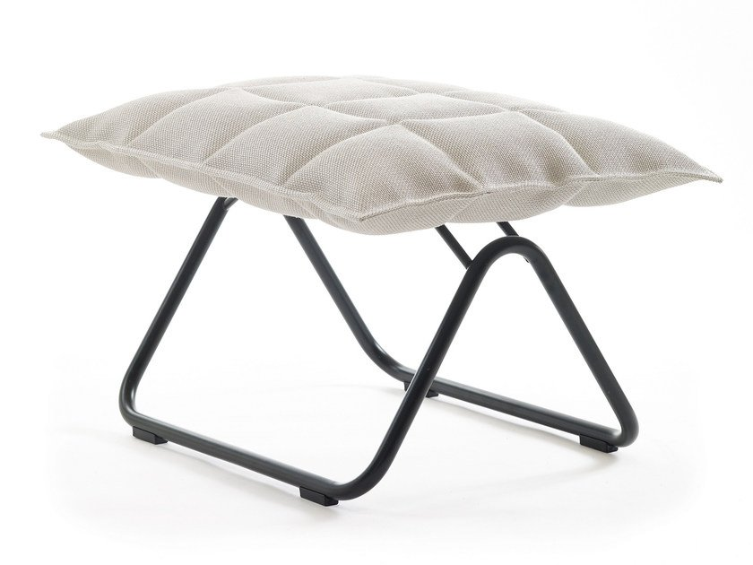 Sled base fabric footstool K CHAIR | Sled base footstool by Woodnotes