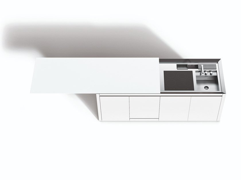 Hideaway kitchen with island K2.2 by Boffi