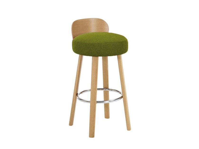 High upholstered wooden stool K2 H-2220 by Paged