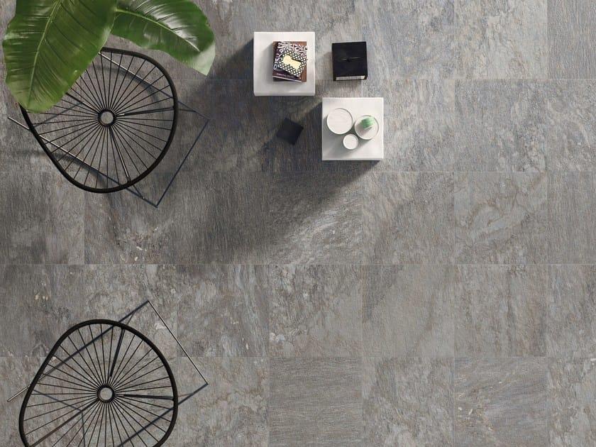 Pavimento antiscivolo ingelivo in gres porcellanato effetto pietra K2 SOURCE GREY by CERAMICHE KEOPE