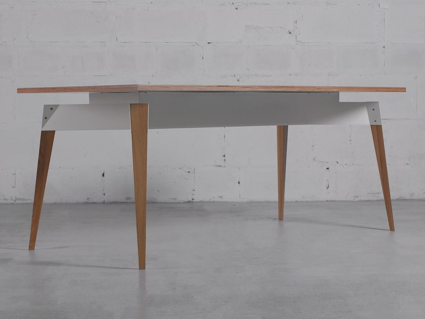 Steel and wood table K5 by ODESD2