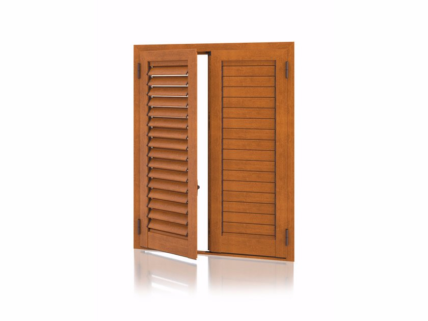 Aluminium shutter with adjustable louvers with planar louvers K80 Planar Adjustable by Kikau