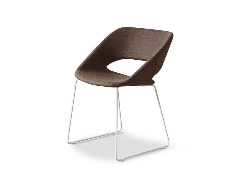 Sled base fabric chair KABIRA | Sled base chair by FANTONI