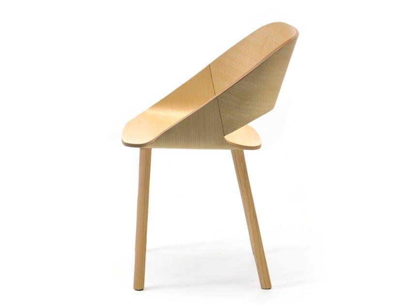 Ash chair KABIRA WOOD 4WL | Wooden chair by arrmet