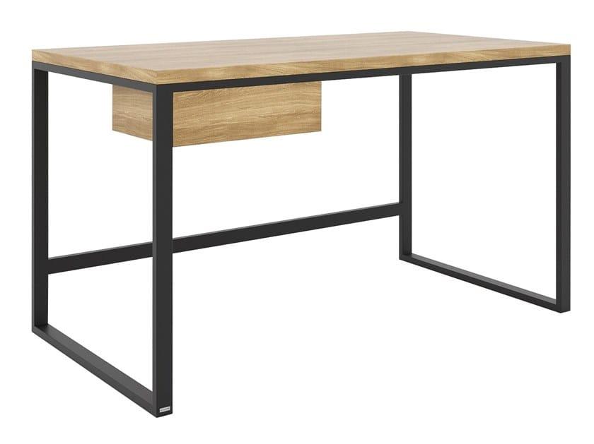 Rectangular steel and wood writing desk KAI by take me HOME