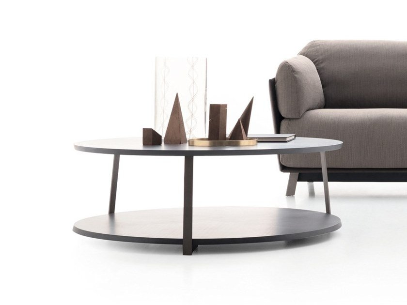 Low Wooden Coffee Table With Integrated Rack Kailua By Ditre Italia