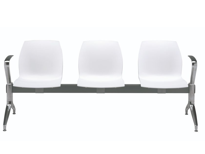 Plastic beam seating with armrests KALEA | Beam seating by Kastel