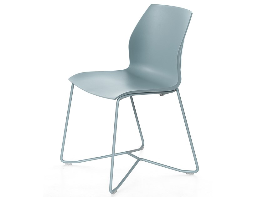 Sled base polypropylene chair with linking device KALEA | Sled base chair by Kastel