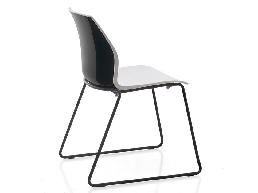 Sled base polypropylene chair with linking device KALEA | Stackable chair by Kastel