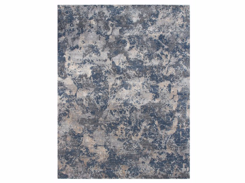 Tappeto fatto a mano KALI ESK-401 Pearl Blue/Denim Blue by Jaipur Rugs