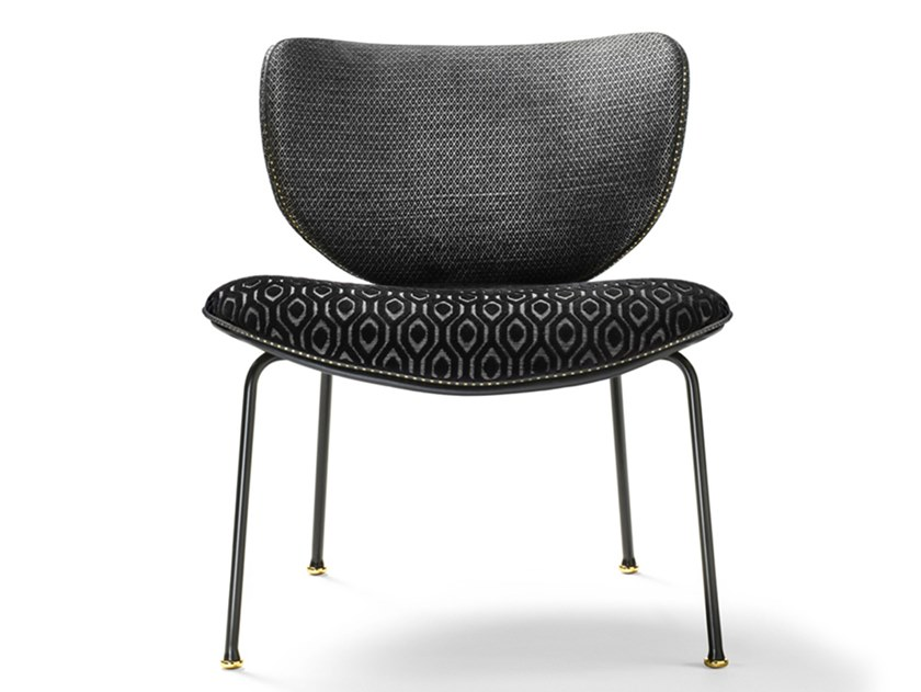Fabric chair KALIDA LOUNGE | Chair by Black Tie