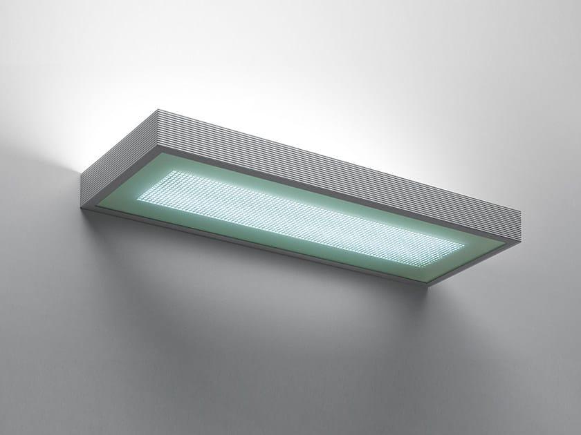 Direct-indirect light fluorescent extruded aluminium wall light KALIFA | Wall lamp by Artemide