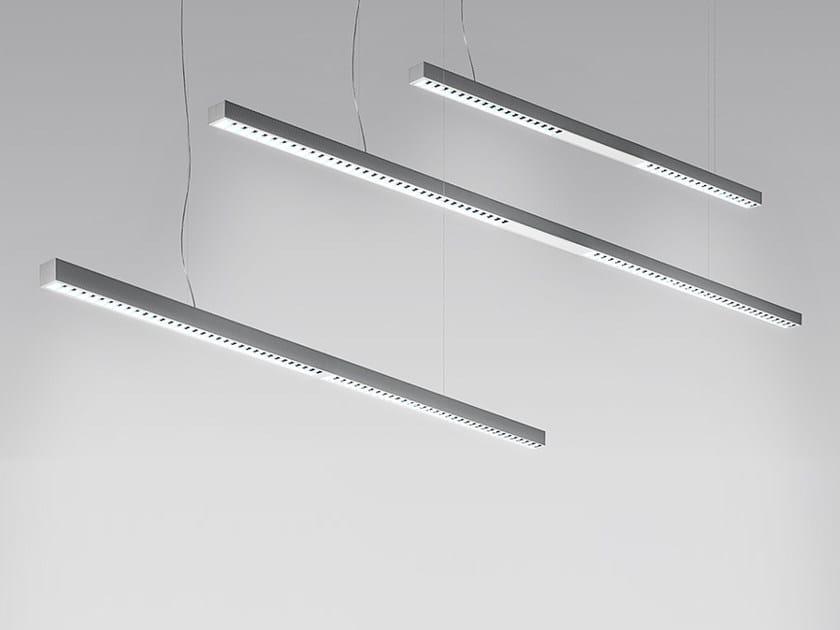 Direct light fluorescent extruded aluminium pendant lamp KALIFA II | Pendant lamp by Artemide