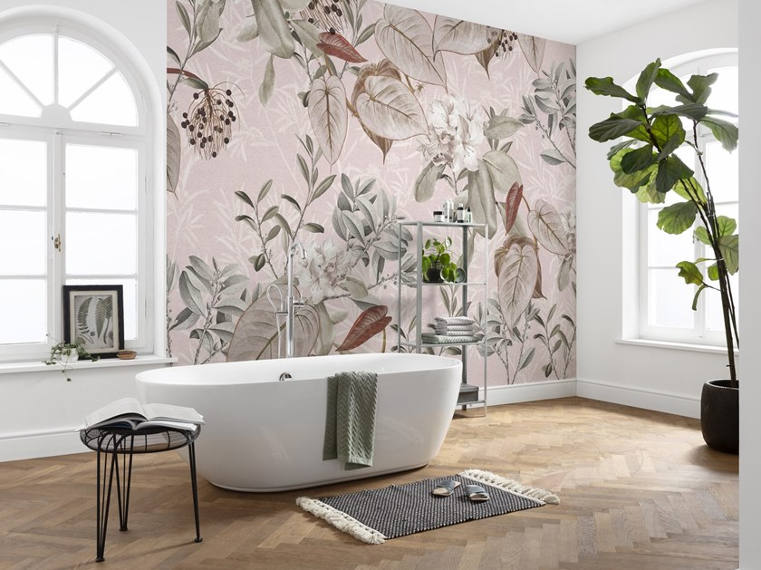 Nonwoven wallpaper with floral pattern KALINA by Komar