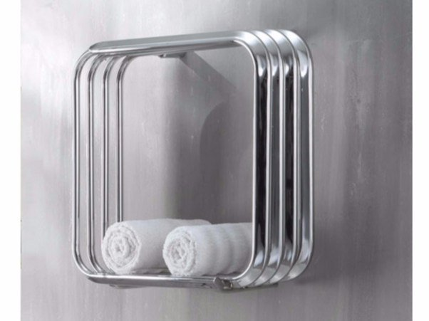 Chrome wall-mounted towel warmer KALOS 50-50 by Hotwave