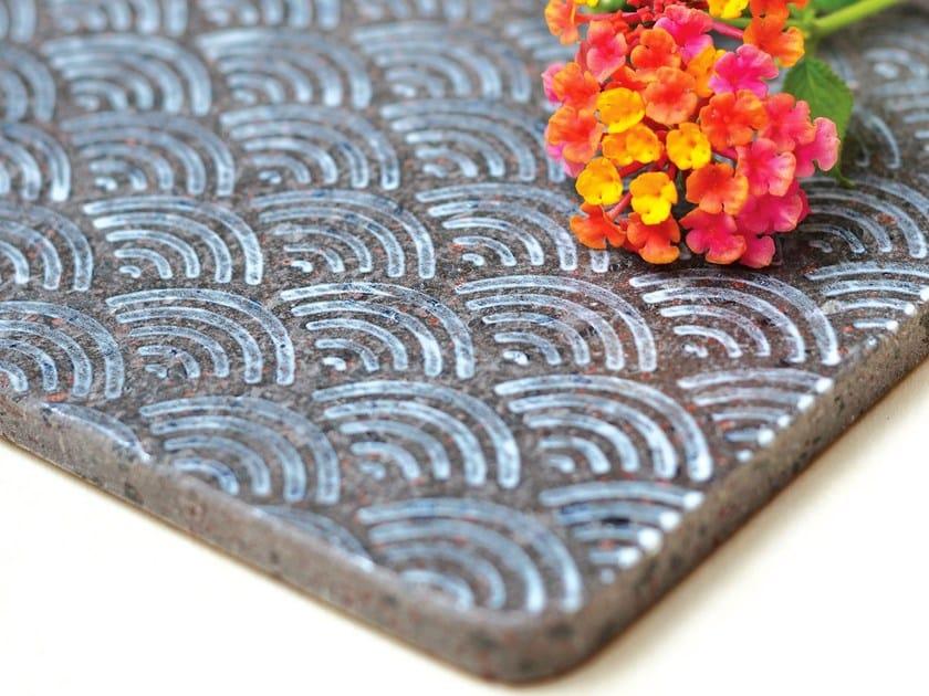 Lava stone tray KALURI KOMON NATURA by Made a Mano