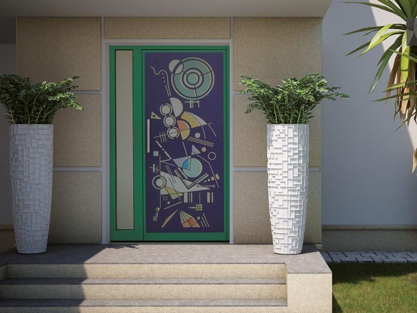 Exterior steel entry door KANDINSKIJ by Fabbridea