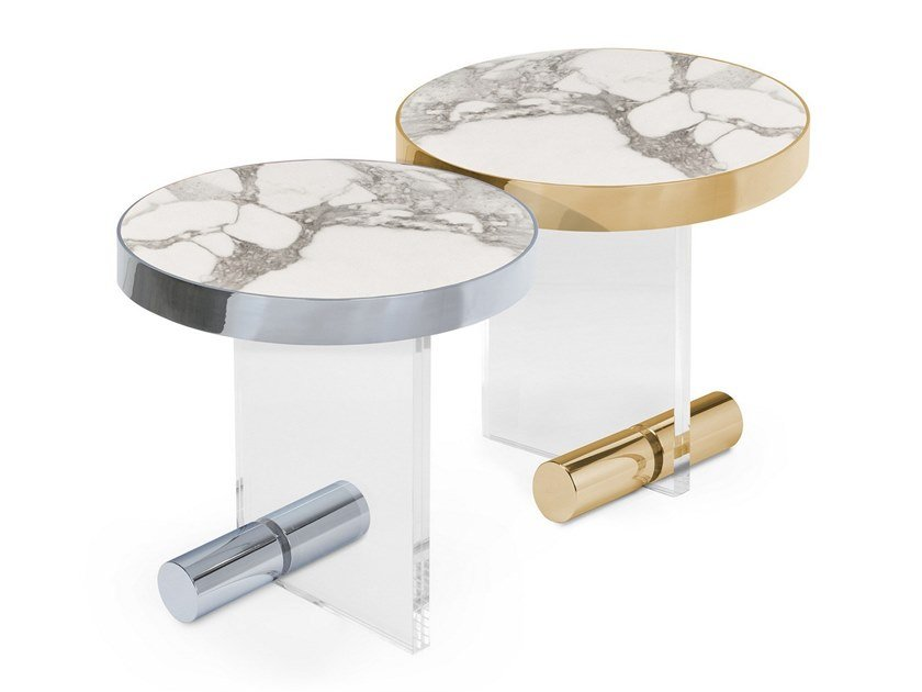 Round Calacatta marble coffee table KANDINSKY CALACATTA | Round coffee table by OIA Design