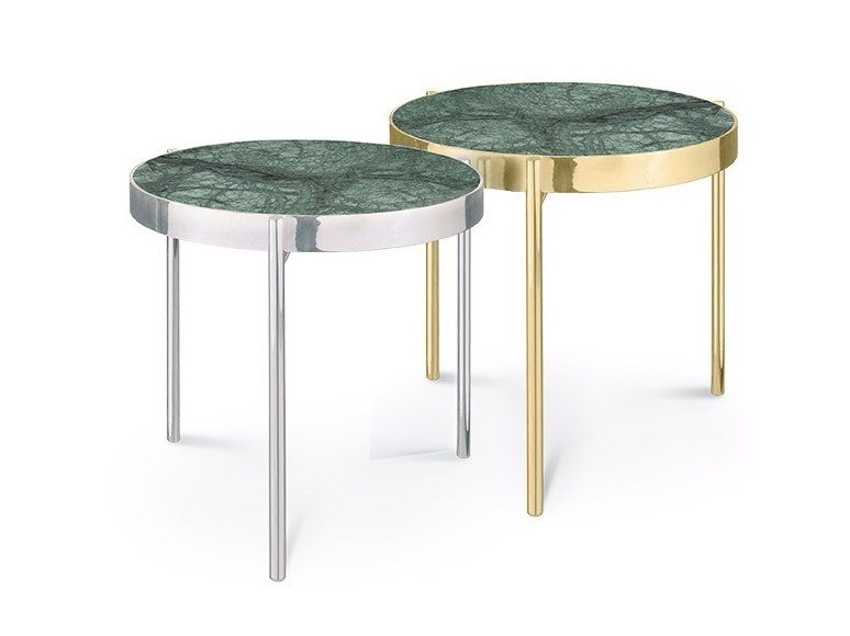 Round Indian Green marble coffee table KANDINSKY INDIAN GREEN | Coffee table by OIA Design