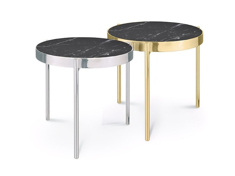Round Nero Marquina marble coffee table KANDINSKY NERO MARQUINA | Coffee table by OIA Design