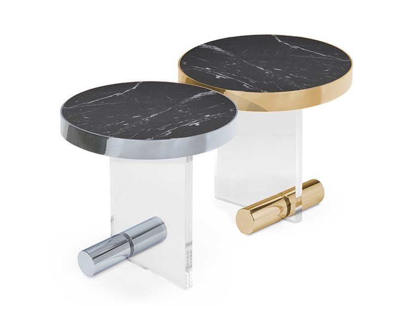 Round Nero Marquina marble coffee table KANDINSKY NERO MARQUINA | Round coffee table by OIA Design