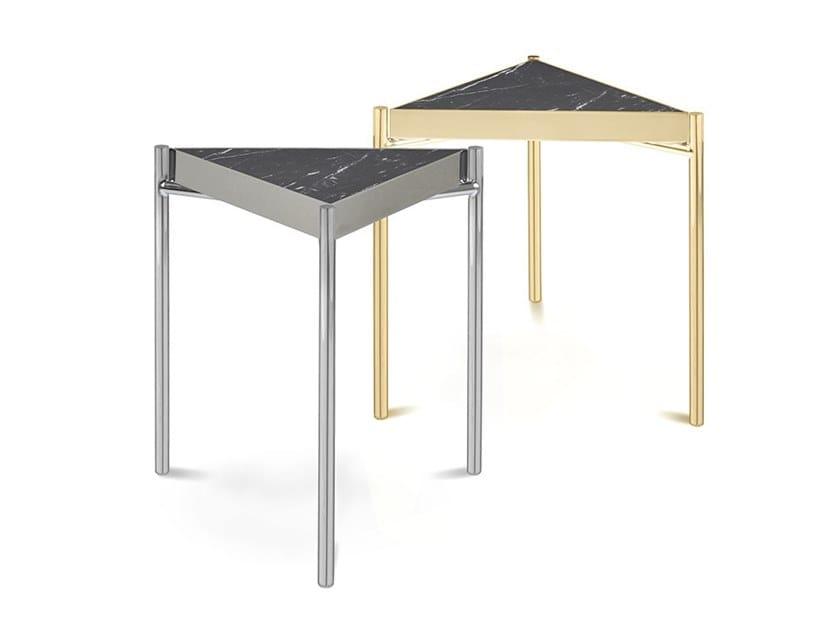 Triangular Nero Marquina marble coffee table KANDINSKY NERO MARQUINA | Triangular coffee table by OIA Design