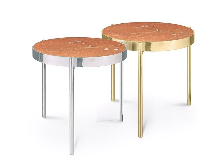 Round Rojo Alicante marble coffee table KANDINSKY ROJO ALICANTE | Coffee table by OIA Design
