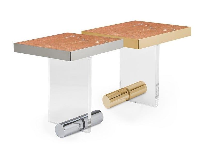 Square Rojo Alicante marble coffee table KANDINSKY ROJO ALICANTE | Square coffee table by OIA Design