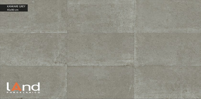 Technical porcelain wall/floor tiles with stone effect KANKARE GREY by Land Porcelanico