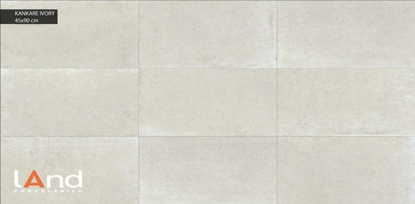Technical porcelain wall/floor tiles with stone effect KANKARE IVORY by Land Porcelanico