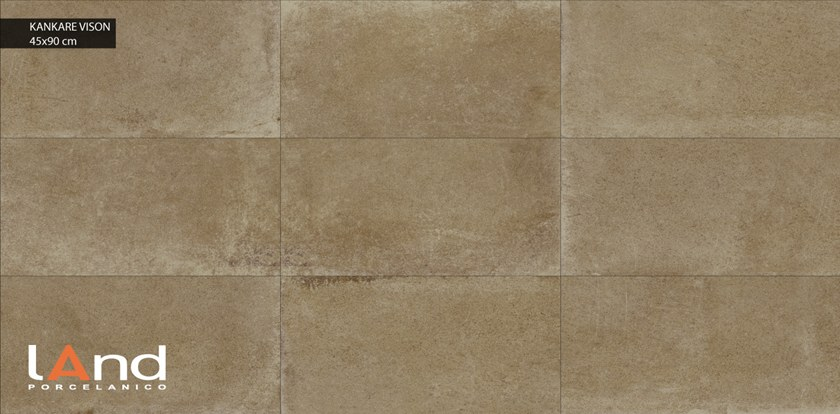 Technical porcelain wall/floor tiles with stone effect KANKARE VISON by Land Porcelanico