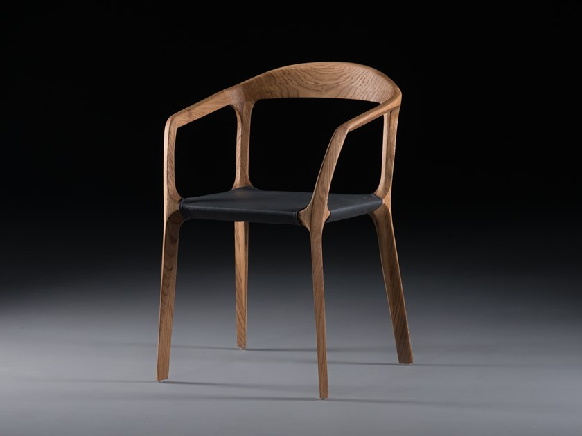 Solid wood chair with armrests KANON by Artisan