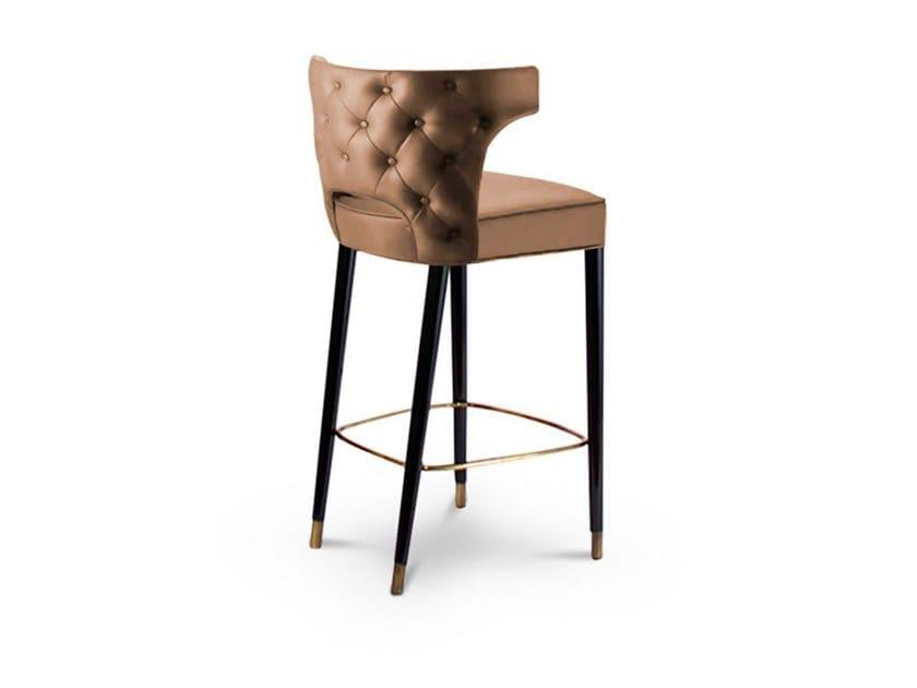 High tufted stool with armrests KANSAS | Stool by BRABBU