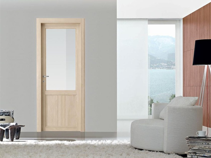 Hinged wood and glass door KANSAS by Door 2000