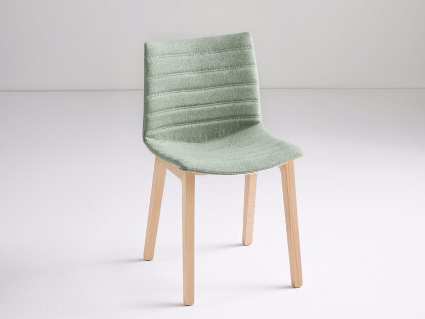 Upholstered fabric chair KANVAS BL FULL by GABER