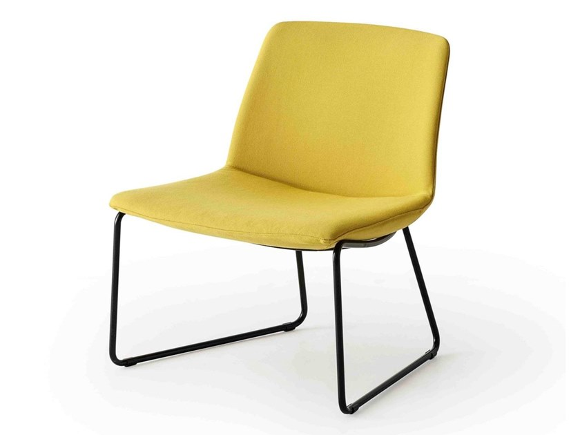 Sled base fabric easy chair KANVAS LOUNGE ST by GABER