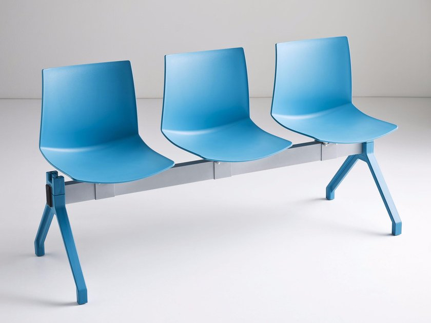 Freestanding technopolymer beam seating KANVAS PG by GABER