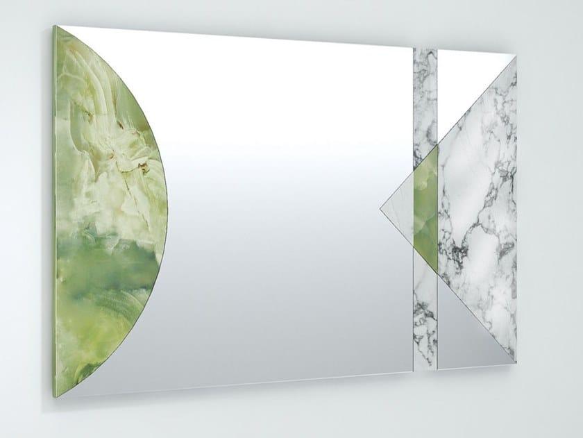Rectangular wall-mounted mirror KAPLAN by Visionnaire