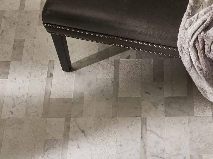 Marble wall/floor tiles with textile effect KARDAMA by AKDO