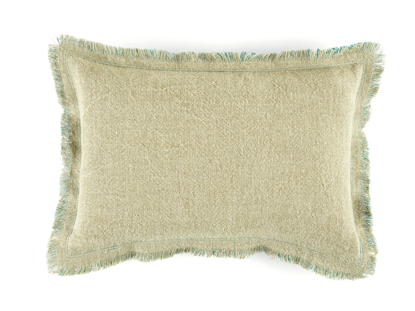 Solid-color rectangular linen cushion KARMA BABY by Élitis