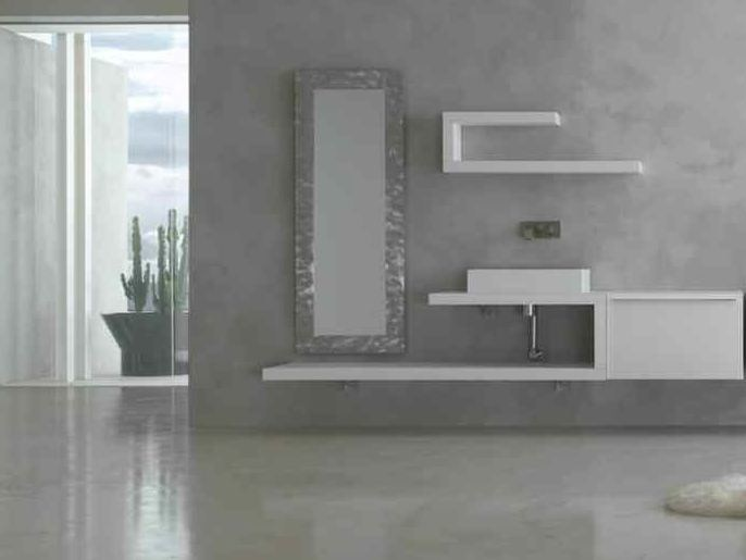 Lacquered single vanity unit KARMA - COMPOSITION 19 by Arcom