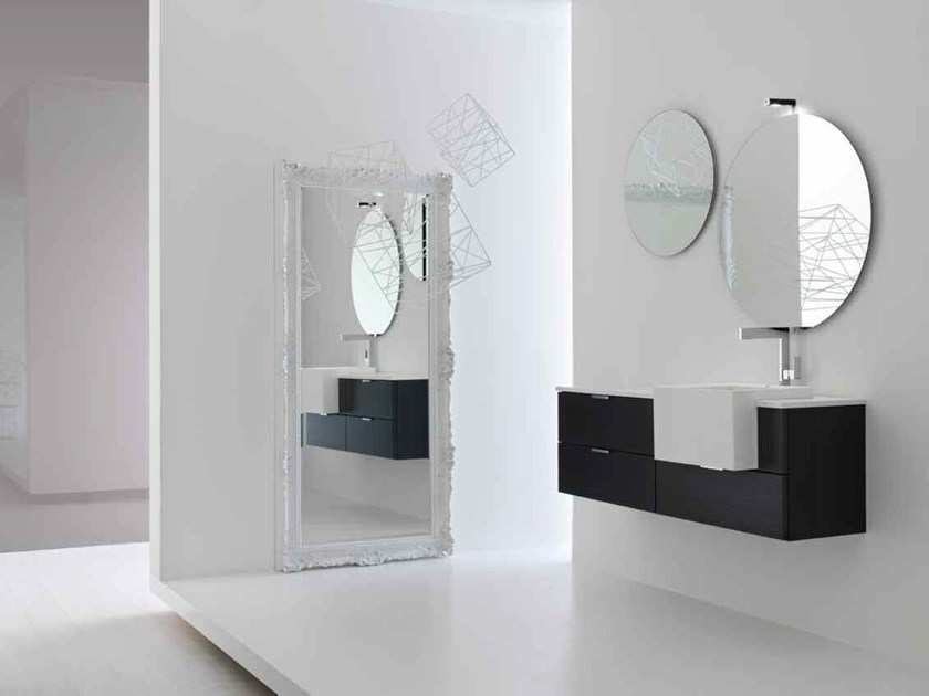 Lacquered single vanity unit KARMA - COMPOSITION 23 by Arcom