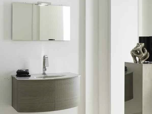 Single wall-mounted vanity unit KARMA - COMPOSITION 27 by Arcom