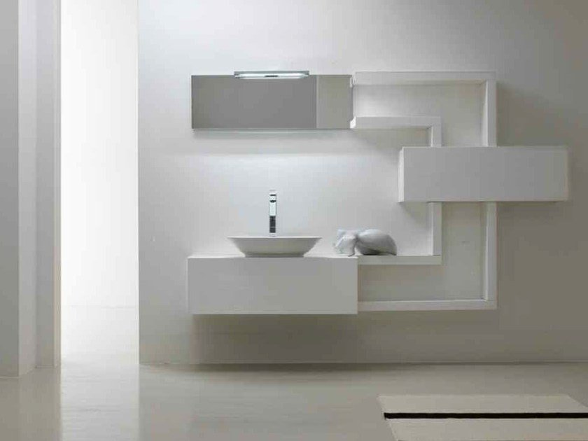 Lacquered single vanity unit KARMA - COMPOSITION 29 by Arcom