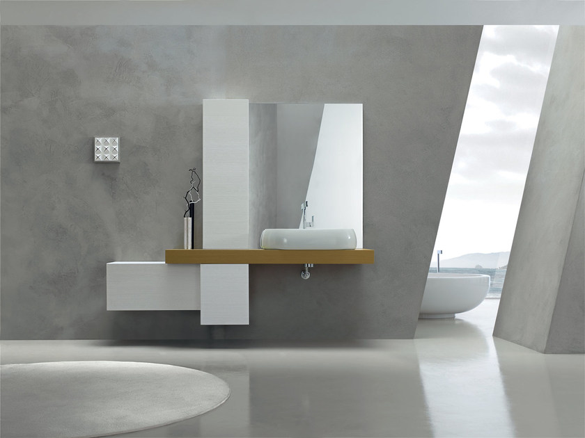 Lacquered single vanity unit KARMA - COMPOSITION 31 by Arcom