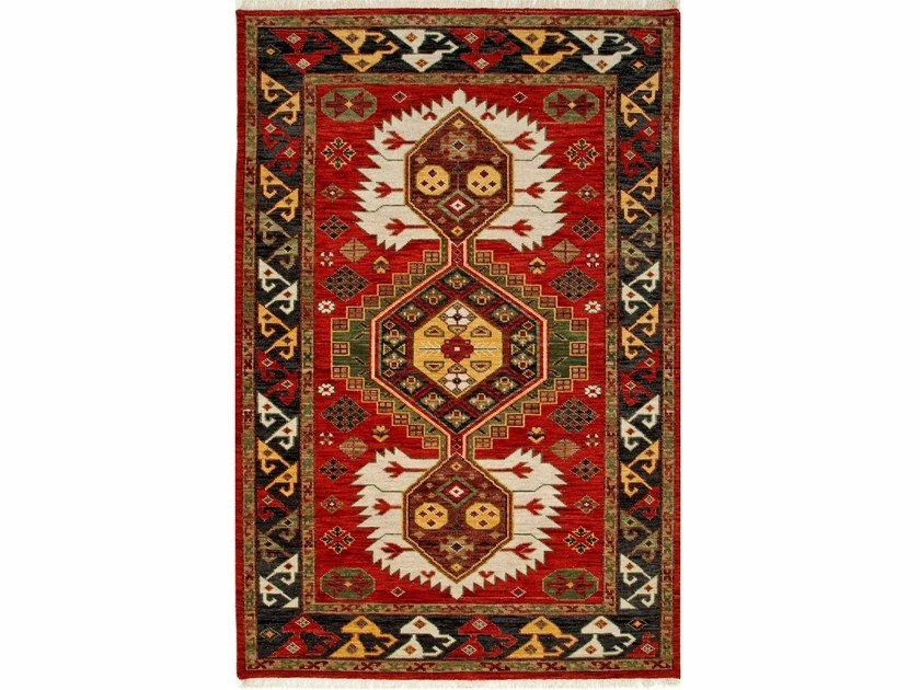 Wool rug KARTER LCA-2351 Velvet Red/Black Olive by Jaipur Rugs