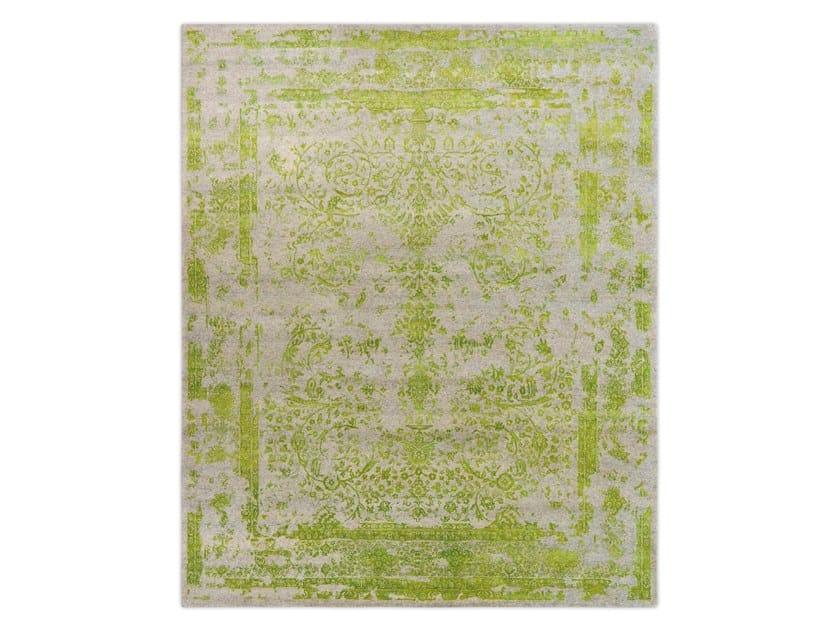 Handmade custom rug KASHMIR BLAZED APPLE GREEN by Thibault Van Renne