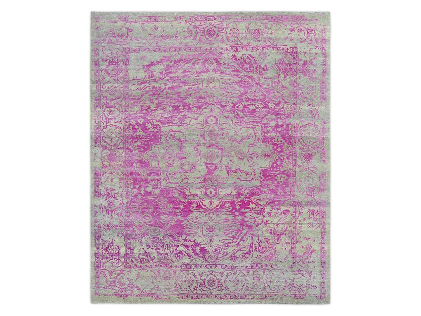 Handmade custom rug KASHMIR BLAZED PINK by Thibault Van Renne