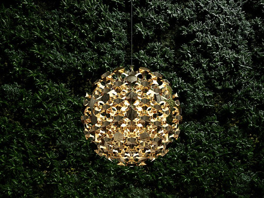 LED brass pendant lamp KASVAA by Cameron Design House